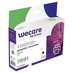 Wecare kompatible Tintenpatrone mit Epson 7891 C13T789140, schwarz