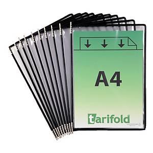 Sichttasche Tarifold 114007 A4, schwarz, Packung à 10 Stück