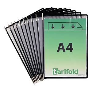 Drehzapfentafel Tarifold Technic 114007, A4, schwarz, 10 Stück