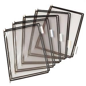 Tarifold saranatasku A4 läpinäkyvä/musta, 1 kpl=10 taskua