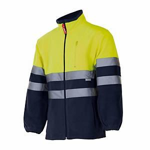 Casaco polar de alta visibilidade Velilla 183 - amarelo/azul - tamanho L