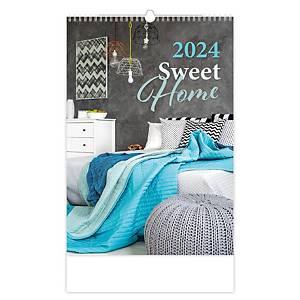 Sweet home - měsíční mezinárodní kalendárium, 14 listů, 31,5 x 45 cm