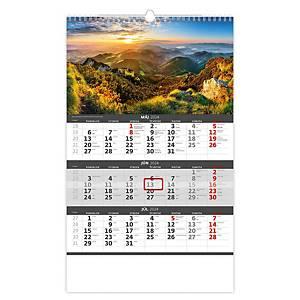 Slovensko - české/slovenské trojmesačné kalendárium, 12 listov, 31,5 x 45 cm