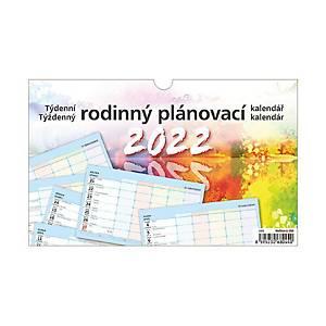 Rodinný plánovací kalendář -  české/slovenské týdenní řádkové kalendárium