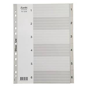Bantex A4 PP Dividers Index 1-6