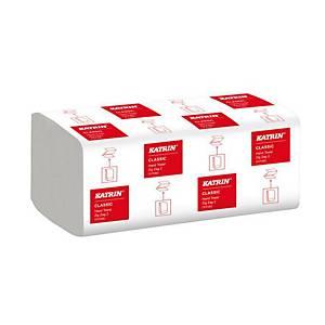 Papierové utierky Katrin ZZ Classic 35298, Handy Pack, 20 x 200 utirerok,biele