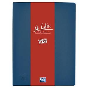 Porte vues Oxford Le Lutin - PVC opaque - 20 pochettes - bleu