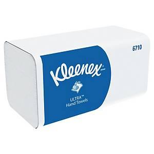 Essuie-mains Kleenex Ultra 6710 - 3 plis Z - blanc - 15 paquets x 96 feuilles
