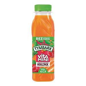 Sok TYMBARK Vitamini malina, marchew, jabłko, 12 butelek x 300 ml
