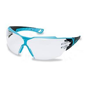 Schutzbrille Uvex Pheos cx2,blau/schwarz, Scheibe farblos
