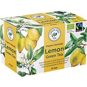 Te Green Bird Tea Grøn te med citrus, pakke a 20 breve