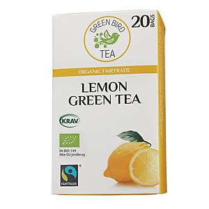 Te Green Bird Tea grønn te med sitrus, pakke à 20 poser