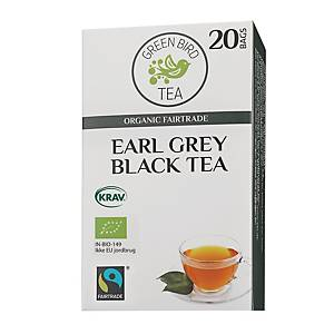 Te Green Bird Tea Earl Grey, förp. med 20 tepåsar