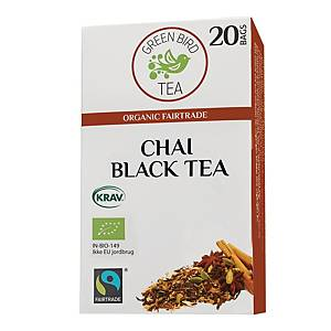 Te Green Bird Tea Chai, pakke a 20 breve