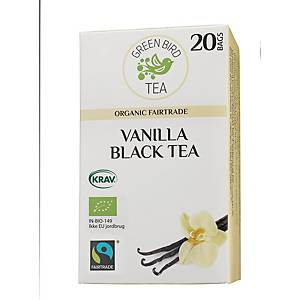 Te Green Bird Tea Vanilje, pakke à 20 poser
