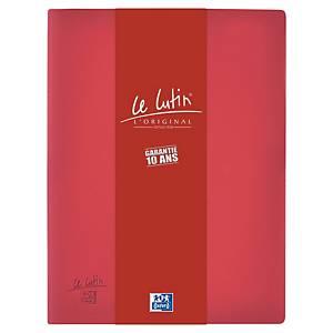 Porte vues Oxford Le Lutin - PVC opaque - 40 pochettes - bordeaux