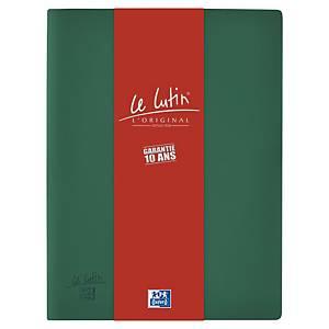 Porte vues Oxford Le Lutin - PVC opaque - 40 pochettes - vert