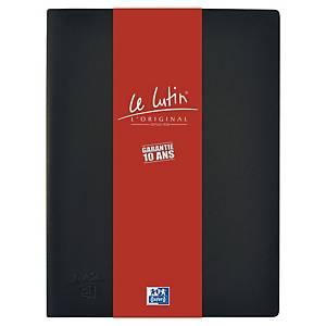 Porte vues Oxford Le Lutin - PVC opaque - 40 pochettes - noir
