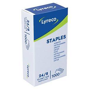 Agrafes Lyreco 24/8, galvanisées, 50 feuilles, les 1.000 agrafes