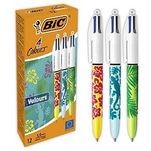 Bolígrafo de 4 colores Shine - 0,4 mm - terciopelo