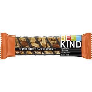 Be-Kind reep pindakaas pure chocolade, pak van 12