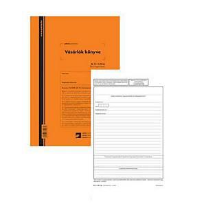 GDPR kompatibilis vásárlók könyve 25x2 lapos tömb A/4 álló