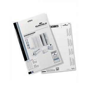 Indstiksetiketter til navneskilte Durable, 4 x 7,5 cm, pakke a 240 stk.