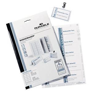 Innstikksetiketter til navneskilt Durable, 4 x 7,5 cm, pakke à 240 stk.
