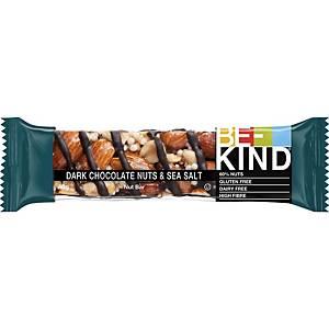 Be-Kind reep pure chocolade, noten en zeezout, pak van 12