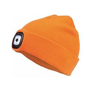 Zimní reflexní čepice s LED lampou CERVA DEEL LED, oranžová