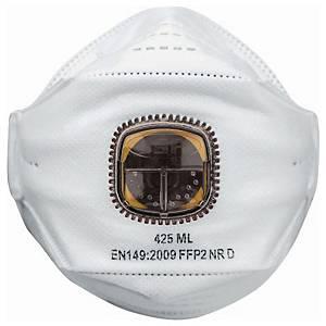 JSP Springfit 425 FFP2 hengityssuojain venttiilillä, 1kpl=10 suojainta