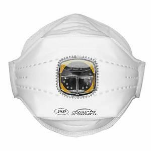 Caixa de 10 máscaras descartáveis JSP SpringFit FFP2V (425) com válvula