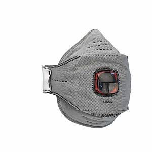 Caixa de 10 máscaras descartáveis JSP SpringFit FFP3OV (436) com válvula