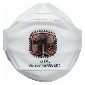 JSP Springfit 435 FFP3 hengityssuojain venttiilillä, 1kpl=10 suojainta