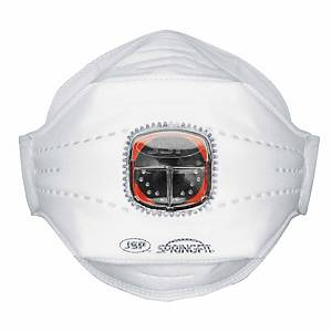 Caixa de 10 máscaras descartáveis JSP SpringFit FFP3 (435) com válvula