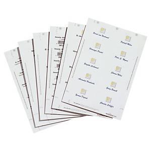 Cartes à insérer pour badge Durable 1455, 54 x 90 mm, 10/feuille, boîte de 200