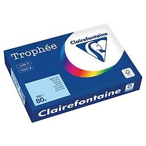Papier couleur A4 Clairefontaine Trophée - 80 g - bleu vif - 500 feuilles