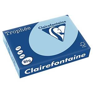 Trophée farebný papier Clairefontaine, A4 80g/m² - svetlomodrý