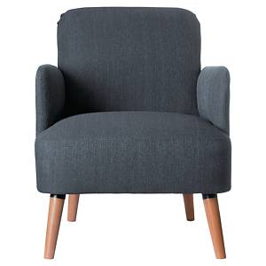 Fauteuil Paperflow Brooks - tissu - gris anthracite