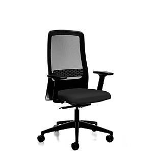 Chaise de bureau Prosedia 172II, haut dossier en maille, noir