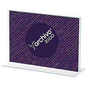Expositor de secretária Archivo 2000 - A5 - formato T horizontal - vidro