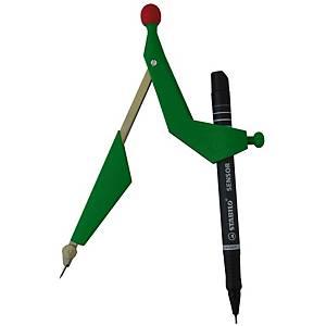 Compas Kern, vert, transparente