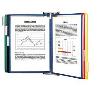 Tarifold 414109 système d affichage mural en métal 10 poches en PVC 5 couleurs