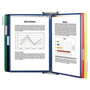 Väggställ Tarifold, A4-format med 10 fickor i utvalda färger