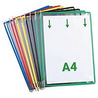 Tarifold Assorted Colours A4 Pivoting Pockets For Tarifold Displays - Pack of 10