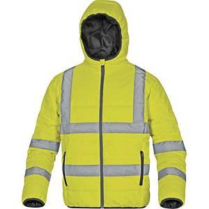 Reflexná bunda Deltaplus Doon, veľkosť 2XL, žltá