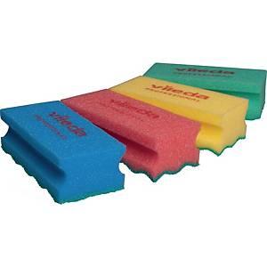 Reinigungsschwamm Vileda Pur Active SchwammProfi, Maße: 14x6,3cm, blau