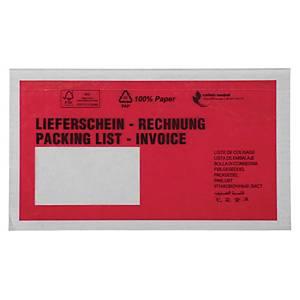 Dokumententaschen DIN Lang, mit Aufdruck Lieferschein 10SPR, 250 Stück