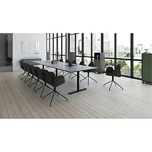 CONF CHAIR W/SWIVEL FRAME DIA48 BLACK