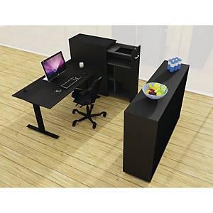 Skrivebord Square, 160 x 80 cm, sort/sort
